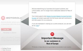 Google shutting down various worldwide Motorola Mobility websites
