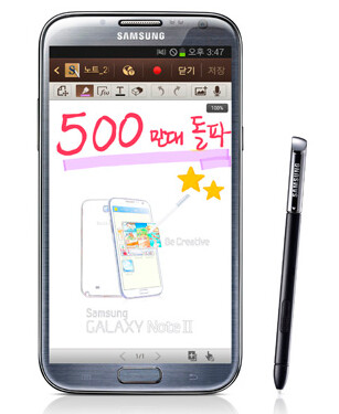5 million units of the Samsung GALAXY Note II have been sold globally
