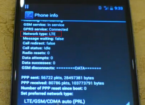This image would seem to confirm LTE connectivity on the Google Nexus 4, confirmed by a subsequent SpeedTest - Why there is no LTE connectivity on the Google Nexus 4