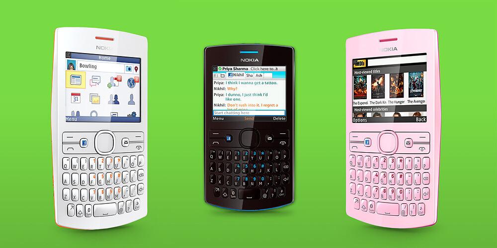 """một lựa chọn từ Nokia """"điện thoại Facebook"""" Asha 205"""