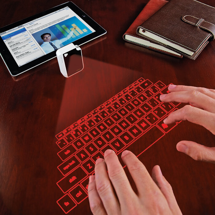 phone with projected keyboard