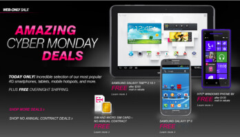 T-Mobile's Cyber Monday deals bring new Windows Phone devices at zero, cuts prices on Androids