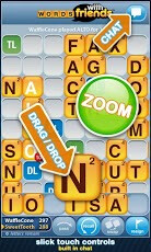 Screenshots from Words With Friends - Zynga adds new social features to Android version of Words With Friends