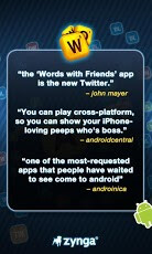 Screenshots from Words With Friends