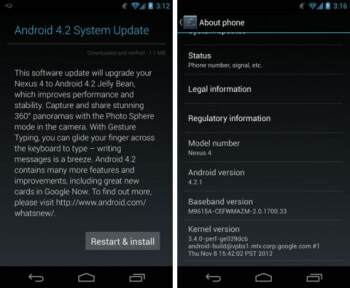 Nexus 4, 7, 10 start getting Android 4.2.1 update, Google fixes December bug