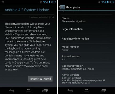 Nexus 4, 7, 10 start getting Android 4.2.1 update, Google fixes December bug