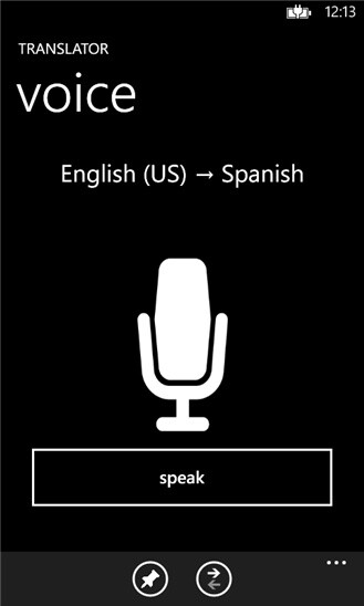 Bing Translator for Windows Phone