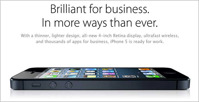 Apple has started promoting the Apple iPhone 5 as a business device - Study: Apple and Android to top BlackBerry in the enterprise for the first time ever in 2012