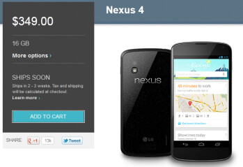 The Google Nexus 4 is still for sale!