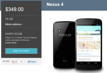 The Google Nexus 4 is still for sale!