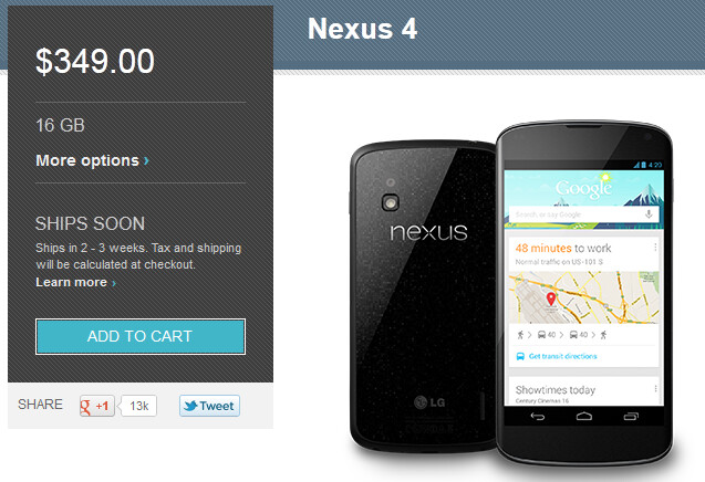 The Google Nexus 4 is still for sale! - Prayers have been answered, the Google Nexus 4 is not sold out!