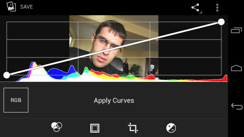 Deeper editing options like Curves are available