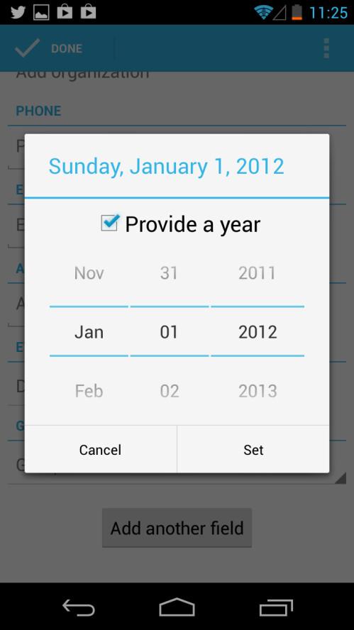 December is missing in the People app in 4.2