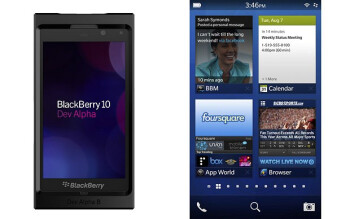 The BlackBerry Dev Alpha B handset