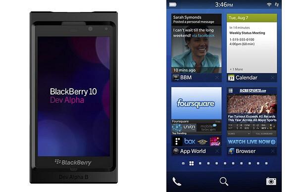The BlackBerry Dev Alpha B handset - BlackBerry 10 Dev Alpha update reveals new name for BlackBerry App World