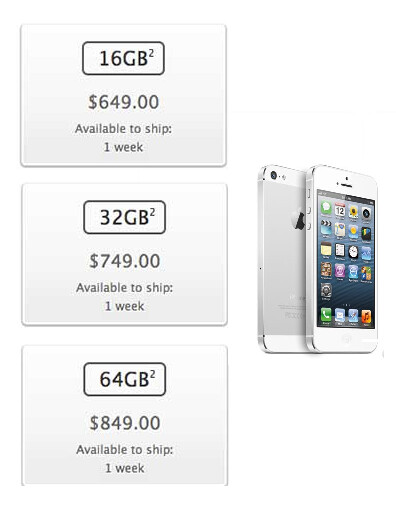The Apple iPhone 5 is now available unlocked in the U.S. - Unlocked Apple iPhone 5 now listed for sale on Apple's U.S. website