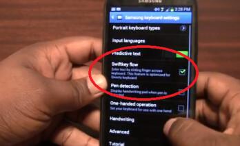SwiftKey Flow appears on the Samsung GALAXY Note II