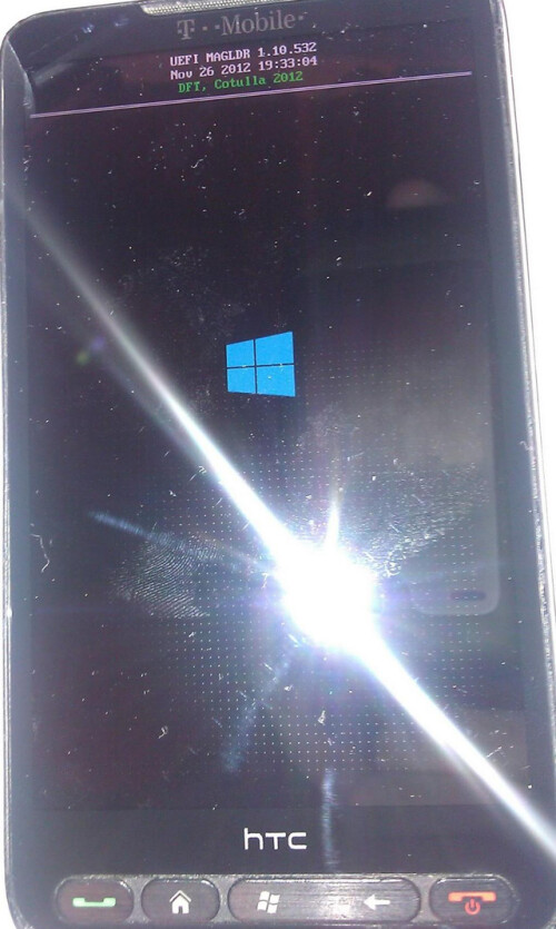 HTC HD2 running WP8