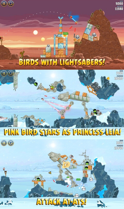 Angry Birds: Star Wars - iOS, Android - $0.99 / Free (action and arcade)