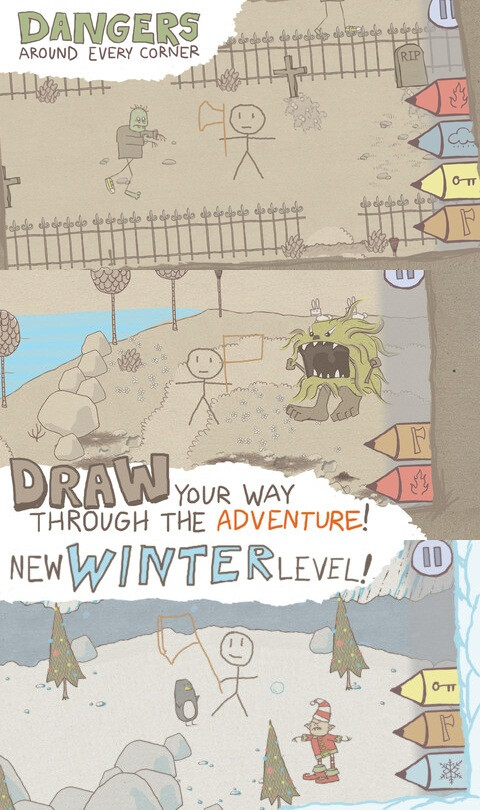 Draw A Stickman - Android, iOS - $0.99 (adventure, puzzle)