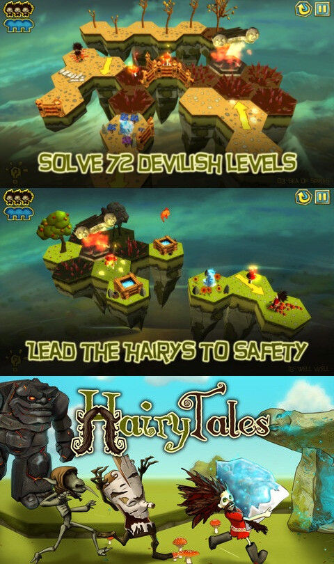 Hairy Tales - iOS - $1.99 (puzzler)