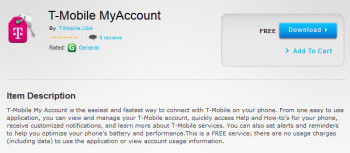 The T-Mobile My Account app for BB10