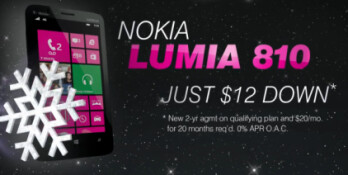 Buy the Nokia Lumia 810 for just $12 down