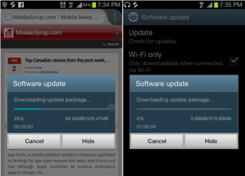 Some Canadian Samsung Galaxy S III owners are already getting Android 4.1