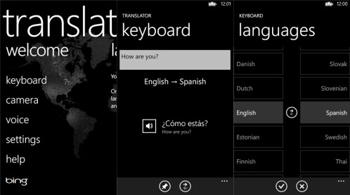 Bing Translator - Windows Phone - Free