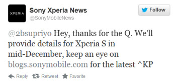 Sony Xperia S owners will know the fate of the Android 4.1 update on the device by the middle of this month