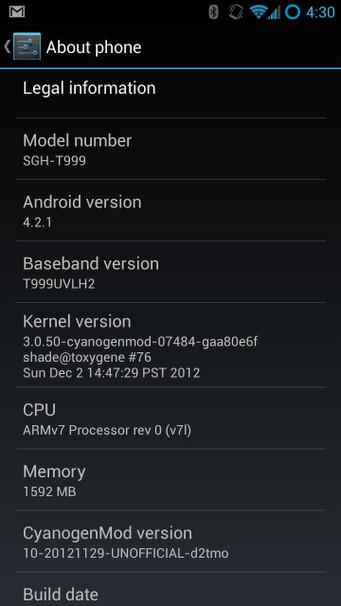 Galaxy S III to get Android 4.2.1 soon, courtesy of CyanogenMod