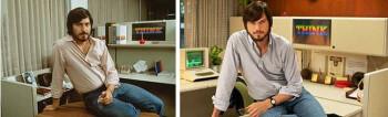 Ashton Kutcher (R) as Steve Jobs in 'jOBS'
