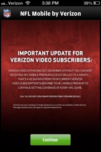 Verizon turns the lights off Verizon Video