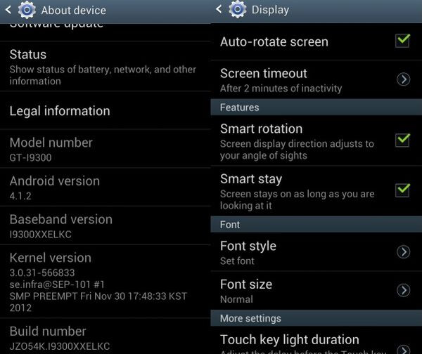 Android 4.1.2 starts to roll out for the GT-i9300 - Android 4.1.2  starts rolling out to international Samsung Galaxy S III models