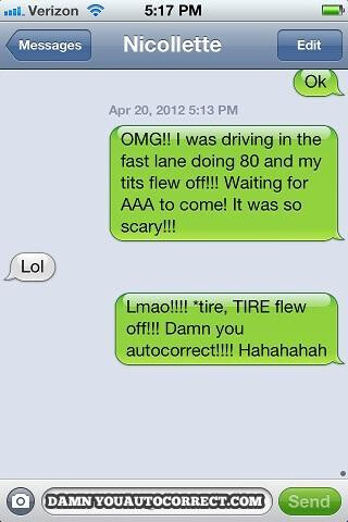 Top 10 funniest Auto-corrected text messages for 2012 [Photos]