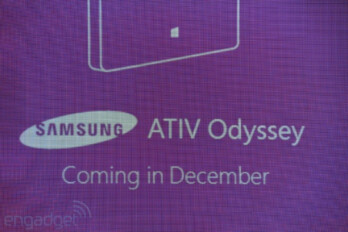 Steve Ballmer introduced the Samsung ATIV Odyssey in October