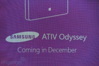 Steve Ballmer introduced the Samsung ATIV Odyssey in October