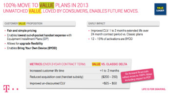 Some of the advantages to T-Mobile for going all Value