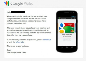 Google finally getting around to Wallet prepaid card refunds
