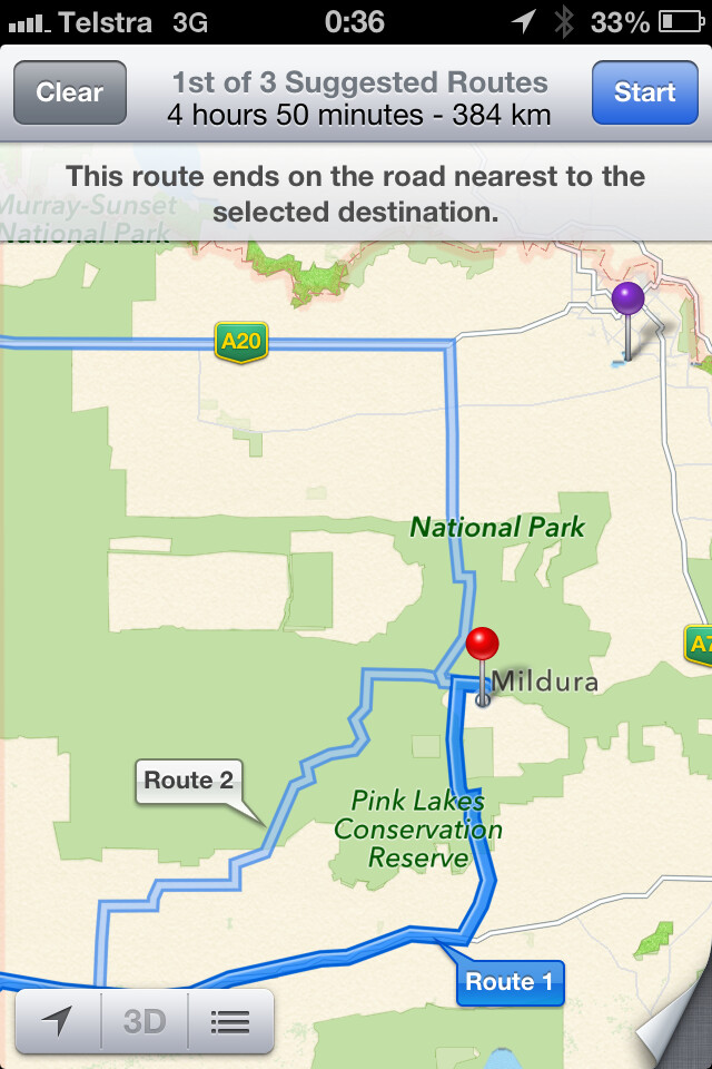 As of Sunday, the potentially fatal directions are still on Apple Maps - Police in Australia say Apple Maps is potentially life-threatening
