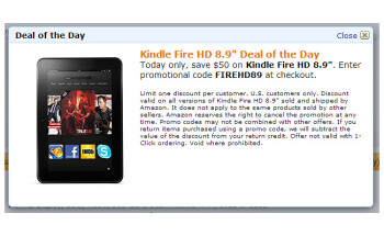 Amazon deal of the day: 8.9-inch Kindle Fire HD for $250