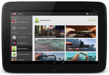 The new YouTube UI for 10 inch tablets like the Google Nexus 10