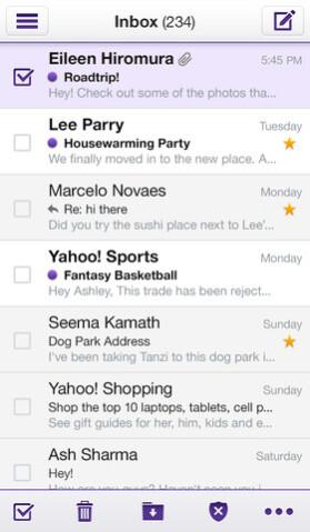 Yahoo! Mail on iPhone