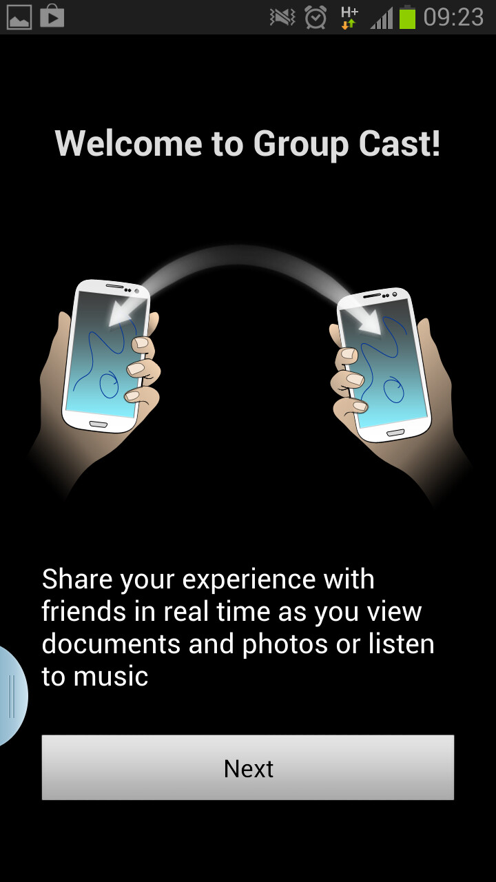Group Cast lets you share music and video with other Samsung devices - International version of Samsung GALAXY Note II gets updated to Android 4.1.2