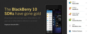 The BB10 SDK tool kit has gone gold