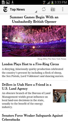 The New York Times for Android