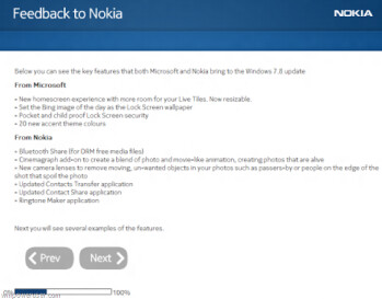 This alleged Nokia feedback survey gives us more information about Windows Phone 7.5