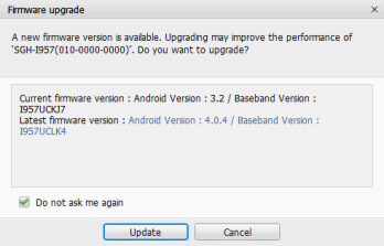 Grab the Android 4.0 update from Samsung Kies