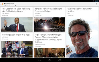 The Breaking News feature on Google Currents