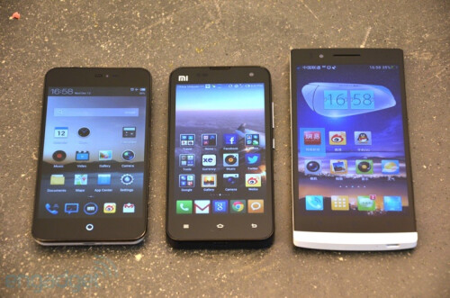 Oppo Find 5 vs Xiaomi Mi-Two vs Meizu MX2